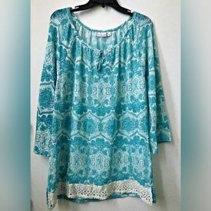 Kim Rogers Size L Top Blouse Tunic